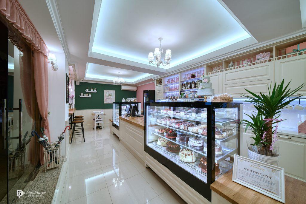 интериор на сладкарница Куманови в гр.Стара Загора