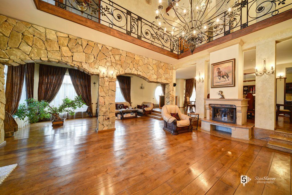 интериорна фотография на частен дом